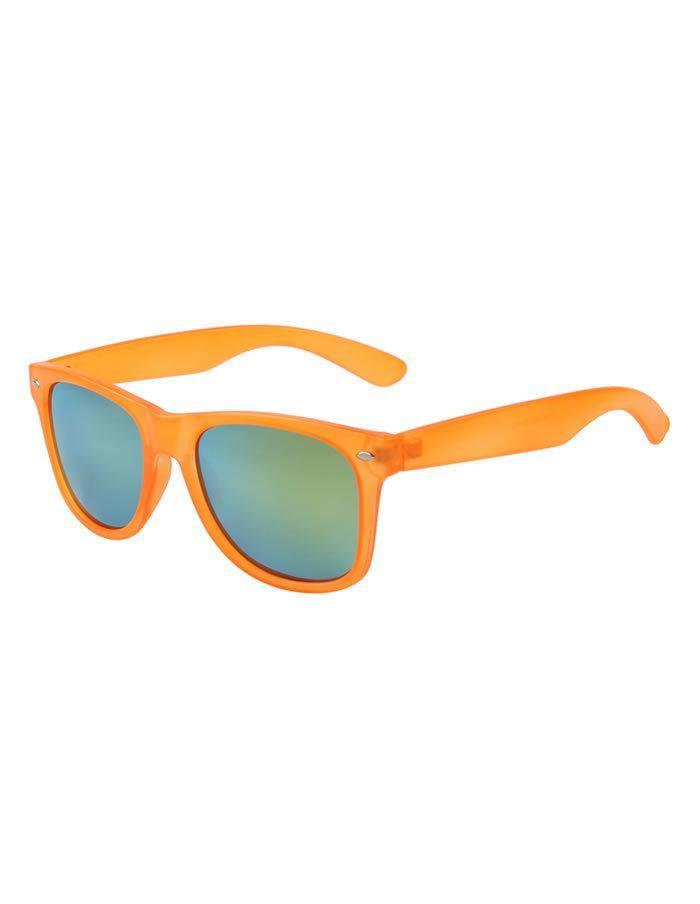 Oranžové okuliare Wayfarer