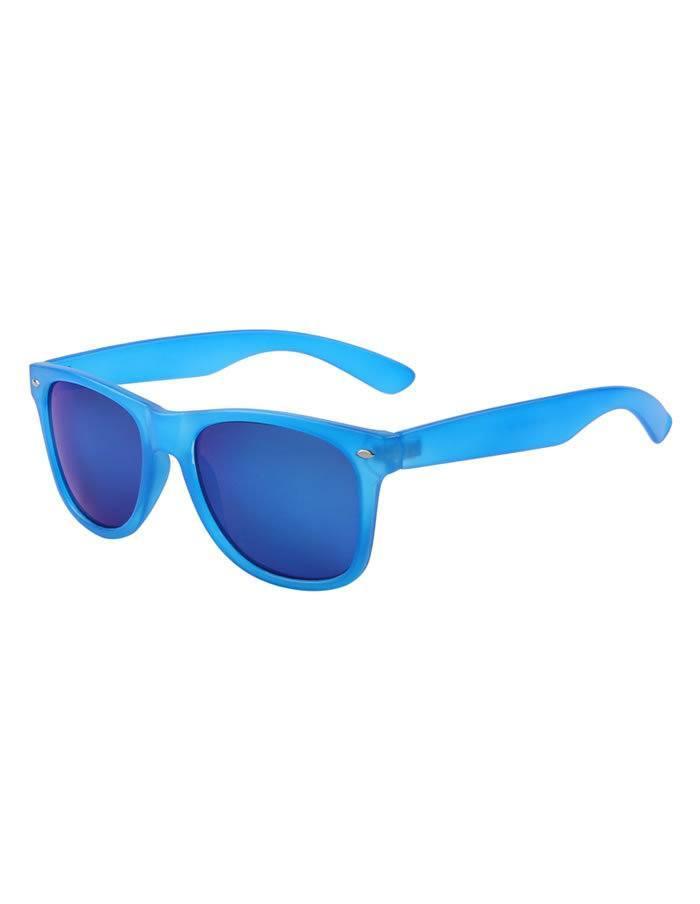 Modré okuliare Wayfarer so zrkadlovými sklami