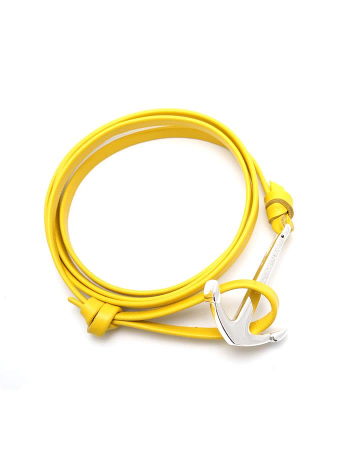 Žltý kožený náramok Virginstone