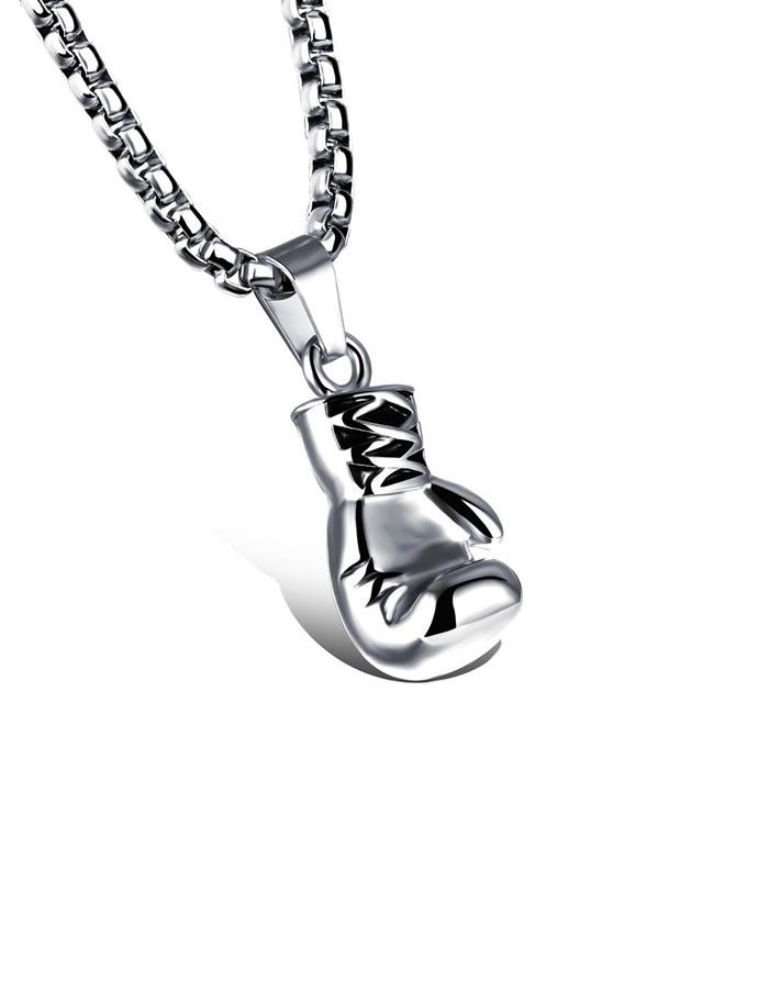 Strieborný náhrdelník Box